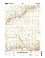 Brewster NE Kansas Current topographic map, 1:24000 scale, 7.5 X 7.5 Minute, Year 2015 from Kansas Map Store