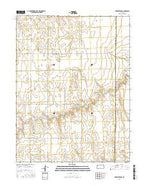 Brewster NW Kansas Current topographic map, 1:24000 scale, 7.5 X 7.5 Minute, Year 2015 from Kansas Map Store