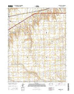 Brewster SE Kansas Current topographic map, 1:24000 scale, 7.5 X 7.5 Minute, Year 2015 from Kansas Map Store