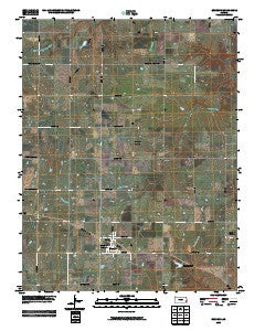 Bronson Kansas Historical topographic map, 1:24000 scale, 7.5 X 7.5 Minute, Year 2009