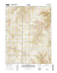 Bronson Kansas Current topographic map, 1:24000 scale, 7.5 X 7.5 Minute, Year 2016