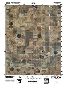 Bucklin NW Kansas Historical topographic map, 1:24000 scale, 7.5 X 7.5 Minute, Year 2009