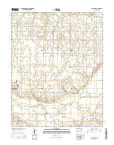Bucklin NW Kansas Current topographic map, 1:24000 scale, 7.5 X 7.5 Minute, Year 2016