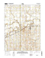 Burdett Kansas Current topographic map, 1:24000 scale, 7.5 X 7.5 Minute, Year 2015 from Kansas Map Store
