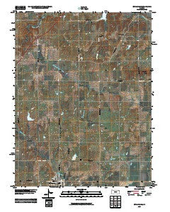 Burlingame Kansas Historical topographic map, 1:24000 scale, 7.5 X 7.5 Minute, Year 2009