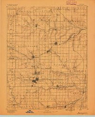 Burlingame Kansas Historical topographic map, 1:125000 scale, 30 X 30 Minute, Year 1889