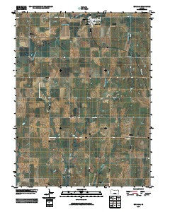 Burr Oak Kansas Historical topographic map, 1:24000 scale, 7.5 X 7.5 Minute, Year 2009