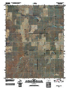 Buttermilk Kansas Historical topographic map, 1:24000 scale, 7.5 X 7.5 Minute, Year 2009
