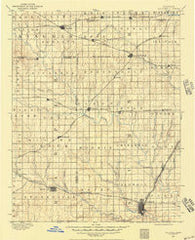 Caldwell Kansas Historical topographic map, 1:125000 scale, 30 X 30 Minute, Year 1889