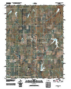 Carbondale Kansas Historical topographic map, 1:24000 scale, 7.5 X 7.5 Minute, Year 2009