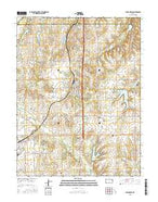 Carbondale Kansas Current topographic map, 1:24000 scale, 7.5 X 7.5 Minute, Year 2015 from Kansas Map Store