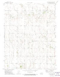 Castle Rock NE Kansas Historical topographic map, 1:24000 scale, 7.5 X 7.5 Minute, Year 1972