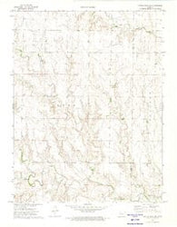 Castle Rock NW Kansas Historical topographic map, 1:24000 scale, 7.5 X 7.5 Minute, Year 1972