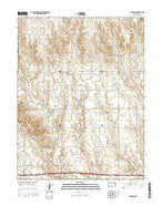 Catharine Kansas Current topographic map, 1:24000 scale, 7.5 X 7.5 Minute, Year 2015 from Kansas Map Store