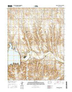 Cedar Bluff Dam Kansas Current topographic map, 1:24000 scale, 7.5 X 7.5 Minute, Year 2015 from Kansas Map Store