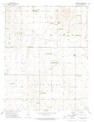 Centerview Kansas Historical topographic map, 1:24000 scale, 7.5 X 7.5 Minute, Year 1972