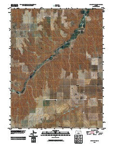 Chardon NW Kansas Historical topographic map, 1:24000 scale, 7.5 X 7.5 Minute, Year 2009