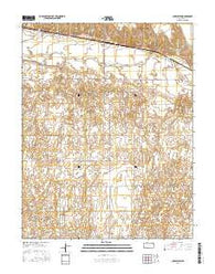 Charleston Kansas Current topographic map, 1:24000 scale, 7.5 X 7.5 Minute, Year 2016