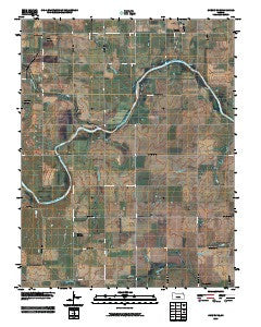 Cheney SE Kansas Historical topographic map, 1:24000 scale, 7.5 X 7.5 Minute, Year 2009