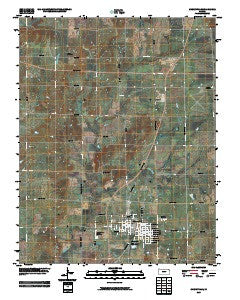 Cherryvale Kansas Historical topographic map, 1:24000 scale, 7.5 X 7.5 Minute, Year 2009