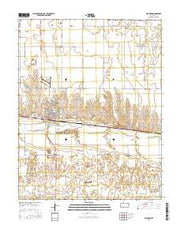 Cimarron Kansas Current topographic map, 1:24000 scale, 7.5 X 7.5 Minute, Year 2016 from Kansas Maps Store