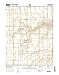 Cimarron NE Kansas Current topographic map, 1:24000 scale, 7.5 X 7.5 Minute, Year 2016