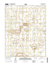 Cimarron NW Kansas Current topographic map, 1:24000 scale, 7.5 X 7.5 Minute, Year 2016