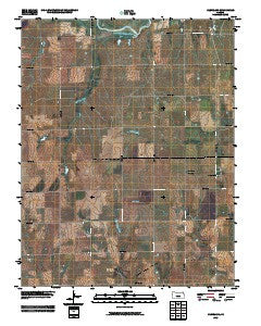 Cleveland Kansas Historical topographic map, 1:24000 scale, 7.5 X 7.5 Minute, Year 2009