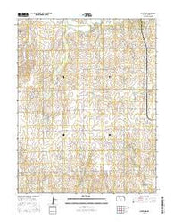 Cleveland Kansas Current topographic map, 1:24000 scale, 7.5 X 7.5 Minute, Year 2016