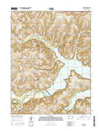 Clinton Kansas Current topographic map, 1:24000 scale, 7.5 X 7.5 Minute, Year 2015 from Kansas Map Store
