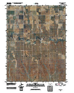Codell Kansas Historical topographic map, 1:24000 scale, 7.5 X 7.5 Minute, Year 2009