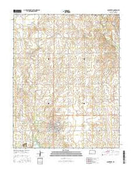 Coldwater Kansas Current topographic map, 1:24000 scale, 7.5 X 7.5 Minute, Year 2016