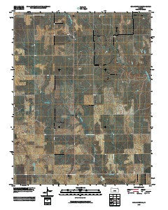 Coldwater NE Kansas Historical topographic map, 1:24000 scale, 7.5 X 7.5 Minute, Year 2009
