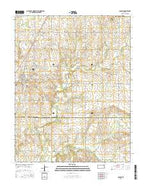 Colony Kansas Current topographic map, 1:24000 scale, 7.5 X 7.5 Minute, Year 2015 from Kansas Map Store