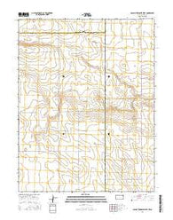 Colony Township West Kansas Current topographic map, 1:24000 scale, 7.5 X 7.5 Minute, Year 2016