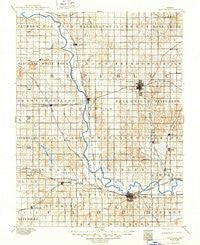 Concordia Kansas Historical topographic map, 1:125000 scale, 30 X 30 Minute, Year 1892