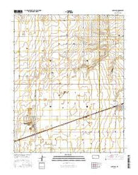 Copeland Kansas Current topographic map, 1:24000 scale, 7.5 X 7.5 Minute, Year 2016