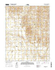 Copeland NE Kansas Current topographic map, 1:24000 scale, 7.5 X 7.5 Minute, Year 2016 from Kansas Maps Store