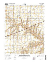 Copeland SE Kansas Current topographic map, 1:24000 scale, 7.5 X 7.5 Minute, Year 2016