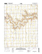Coronado Cemetery Kansas Current topographic map, 1:24000 scale, 7.5 X 7.5 Minute, Year 2015 from Kansas Map Store