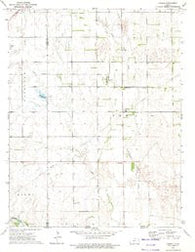 Corwin Kansas Historical topographic map, 1:24000 scale, 7.5 X 7.5 Minute, Year 1972