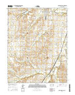 Cottonwood Falls Kansas Current topographic map, 1:24000 scale, 7.5 X 7.5 Minute, Year 2015 from Kansas Map Store