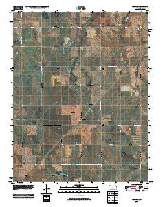 Crisfield Kansas Historical topographic map, 1:24000 scale, 7.5 X 7.5 Minute, Year 2009