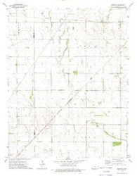 Crisfield Kansas Historical topographic map, 1:24000 scale, 7.5 X 7.5 Minute, Year 1972