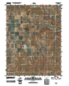 Cuba Kansas Historical topographic map, 1:24000 scale, 7.5 X 7.5 Minute, Year 2009