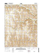 Cuba Kansas Current topographic map, 1:24000 scale, 7.5 X 7.5 Minute, Year 2015 from Kansas Map Store