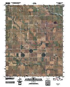 Danville Kansas Historical topographic map, 1:24000 scale, 7.5 X 7.5 Minute, Year 2009