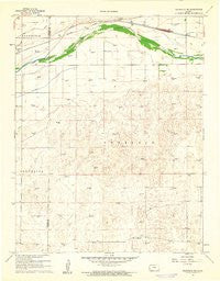 Deerfield NE Kansas Historical topographic map, 1:24000 scale, 7.5 X 7.5 Minute, Year 1960