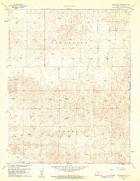 Deerfield SW Kansas Historical topographic map, 1:24000 scale, 7.5 X 7.5 Minute, Year 1960