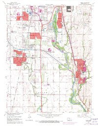 Derby Kansas Historical topographic map, 1:24000 scale, 7.5 X 7.5 Minute, Year 1960